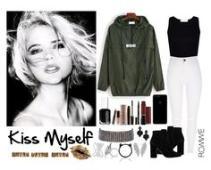 """""""462->""""Kiss Myself"""" by G.R.L."""" by dimibra ❤ liked on Polyvore featuring MANGO, Laura Mercier, Smith & Cult, Essie, Oliver Gal Artist Co., Tasha, Amrita Singh, Kate Spade and Effy Jewelry"""