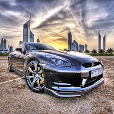 Black Nissan GTR Godzilla hits Dubai