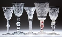 From a large selection of 18th century drinking vessels