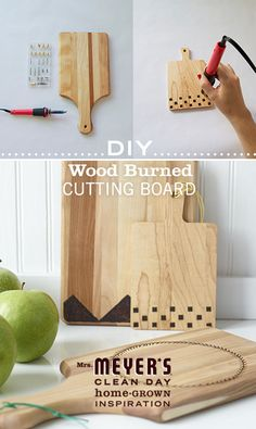 Spruce up any kitchen with this gorgeous wood burned cutting board. It's so easy to make and is a great gift for the foodies in your life. From Design*Sponge to Mrs. Meyer's Clean Day.