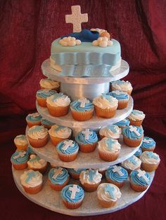 Baptism Cake & Cupcakes by Linzi's Cakes, via Flickr