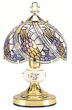 OK Lighting Touch Lamp with Tiffany Glass Floral Theme Gold for sale online Touch Table Lamps, Table Lamps For Bedroom, Touch Lamp, Best Bedside Lamps, Grandfather Clocks For Sale, Best Wall Clocks, Best Outdoor Lighting, Gold Floor Lamp, Gold For Sale