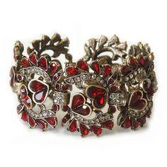 Sweet romance garnet retro bracelet for Valentines Day. Garnet Bracelet, Garnet Jewelry, Heart Jewelry, Heart Bracelet, Garnet Rings, Silver Jewellery, Silver Ring, Heart Ring, Crystal Bracelets