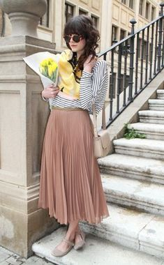 Blog photos in skirt, with top and tulips bc this is beautiful