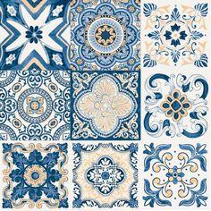 Adesivo de Azulejo Mediterrâneo
