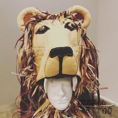 """""""She had managed to procure a hat shaped like a life-sized lion's head, which was perched precariously on her head."""" See post 1 with the . Ropa Burning Man, Lion Hat, World Book Day Costumes, Christmas Clearance, Pet Halloween Costumes, Black Acrylics, Luna Lovegood, Black Felt, Design Process"""