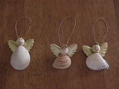 This is a cute idea for shells found during your beach vacation! Would make nice Christmas gifts for kids to make for family.