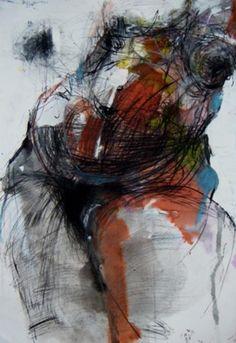 figure by Fotini Hamidieli : Drawing-watercolor, Paper, Mixed ...