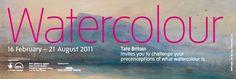 Watercolour exhibition banner