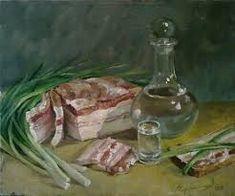 Картинки по запросу натюрморт водка сало