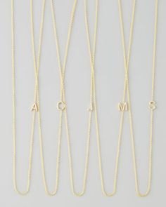 14k Yellow Gold Mini Letter Necklace by Maya Brenner Designs at @Neiman Marcus