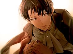 You're Okay.....I promise...dont leave me alone....   Levi rivaille attack on titan