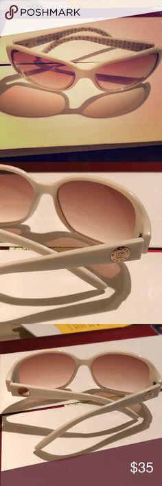 Michael Kors sunglasses Michael Kors white sunglasses. Gently used. No major scratches on lens ! Michael Kors Collection Accessories Sunglasses