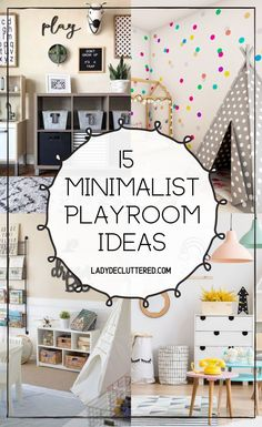 The best part about having a minimalist playroom is it teaches kids at a young age how to value what they have, how to take care of what they own, and the fact it will take you half the time to clean up a minimalist playroom is just an added bonus! #ladydecluttered#minimalism#playroomorganization#minimalistplayrooms#toyorganization Playroom Shelves, Small Playroom, Playroom Organization, Playroom Decor, Playroom Ideas, Organization Ideas, Playroom Printables, Bedroom Decor, Types Of Furniture