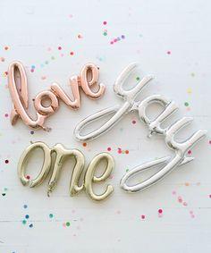 "Mylar Script Balloon ""Love"" – Oh Happy Day Shop"