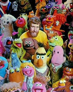 "jimhenson-themuppetmaster: ""Jim Henson with The Muppets of This photo was sent out as a Henson Company Holiday Postcard in "" Sesame Street Muppets, Sesame Street Characters, The Muppets Characters, Jim Henson Puppets, Doctor Whooves, Fraggle Rock, The Muppet Show, Miss Piggy, Kermit The Frog"