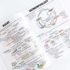 """studyblr studyplants: """" kaisdesk: """" earth science notes again ✨ studygram Pretty Notes, Cute Notes, Good Notes, College Notes, School Notes, College Fun, Law School, Middle School, Science Notes"""