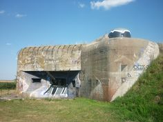 Interwar heavy bunker with cold-war era antitank cannon