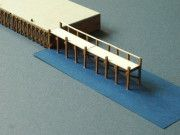 Wooden Pier for Diorama Free Building Paper Model Download
