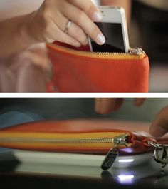 """Wirelessly charge your phone with the """"Everpurse"""" #TagIt"""