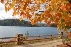 Lake Junaluska, North Carolina, in fall color