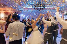 Confetti Cannon Wedding Ritz Carlton Orlando Fyerfly Productions