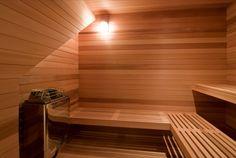 Modern and Minimalist Mid-Century Home Renovation Ideas - Home Design and Home Interior Modern Saunas, Modern Pools, Mid Century Decor, Mid Century House, Sauna Design, Steam Sauna, Pool Houses, Fireplace Mantels, Pool Designs