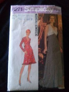 Rare Vintage 1974 Dress in Two Lengths-Simplicity 6271-size 12-UNCUT