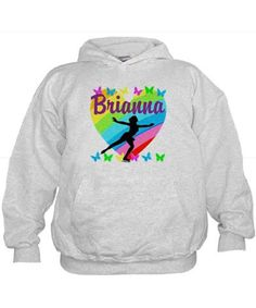 CUSTOM SKATER Hoodie Give the holiday gift every Figure Skater will treasure with our beautiful personalized Figure Skating Tees and Gifts. http://www.cafepress.com/sportsstar/10189550 #Figureskater #FigureSkating #Iloveskating #Borntoskate #Personalizedskater