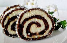 Nepečená čokoládovo-kokosová roláda