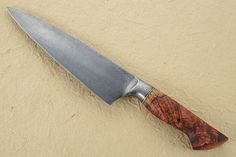 Chef's Knife (7-3/4 in.) with Amboyna Burl and Pool & Eye Damascus