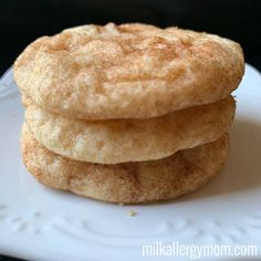 The best snickerdoodle recipe! Possible dairy and egg free at Milk Allergy Mom. Dairy Free Eggs, Egg Free, Dairy Free Recipes, Cream Of Tarter, Milk Allergy, Snickerdoodle Recipe, Snicker Doodle Cookies, Cooking With Kids, Vegan Desserts