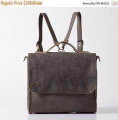 Leather Backpack School Backpack Laptop backpack by MeitaLev
