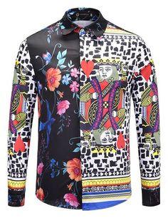 b7f05b17 Pizoff Mens Long Sleeve Luxury Print Dress Shirt AL082-04 African Wedding  Dress, Button
