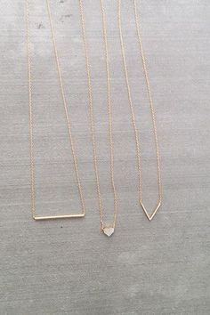 Looking for simple short necklaces to add some detail to causal/date night outfits. The Littlest Collection 2