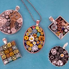 Micro Mosaic Pendants