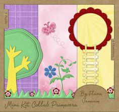 Mundo do Scrapbook Digital: Mini Kit Collab Primavera - By:Flávia Jamarim