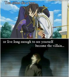 Code Geass and Death Note. Lelouch died a hero in the end even though not many people realized it. Light on the other hand died after becoming a villain while trying to be a hero. I Love Anime, All Anime, Me Me Me Anime, Otaku Anime, Manga Anime, Anime Art, Lelouch Vi Britannia, Memes, Anime Crossover