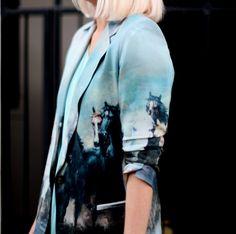 printed silk blazer. Can I have it?