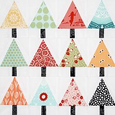 Christmas quilt - would be cute for a table runner