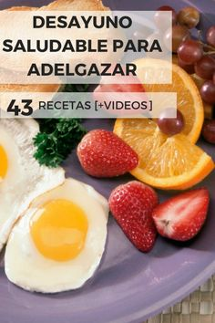 What a breakfast to lose weight! Healthy Desayunos, Healthy Snaks, Healthy Recipes, Healthy Breakfasts, Smoothies, Good Food, Brunch, Tasty, Nutrition