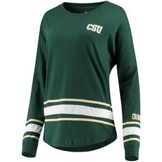 ddebd19ec97 Women's Colosseum Green Colorado State Rams All Around Oversized Long  Sleeve T-Shirt