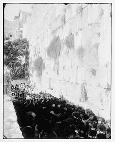 Yom Kippur 100 Years Ago -- Or More: Photographic Treasures from the Library of Congress from Jerusalem, New York and a French Battlefield Jewish History, Jewish Art, First Photograph Ever Taken, Old Photos, Vintage Photos, Western Wall, Old Photography, 10 Picture, Daily Pictures