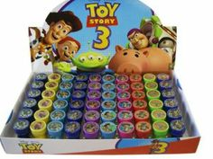 "Disney (6pc Assorted) Buzz and Woody Toy Story Stamps - Toy Story Stamp Set (Assorted Design 6pc) by Disney. $7.50. Measures .75"" wide. Features a different photo of Buzz, Woody, Jessie, Mr. Potato Head or Lotso on each stamp.. Each stamp comes sealed with a lid.. 6 pcs set. Assorted designs and items picked at random.. These adorable stamps from the Toy Story film make great gifts for goody bags or just because!"
