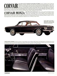 1962 Corvair Monza  The Corvair gets sporty
