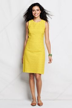 bb808a64bd24 Women s Regular Woven Eyelet Sheath Dress - Bright Sun