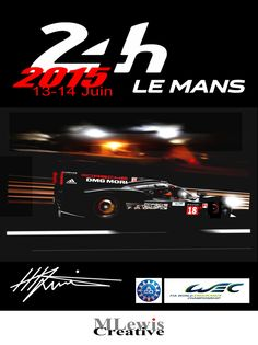 Le Mans 2015 poster art by Mark Lewis