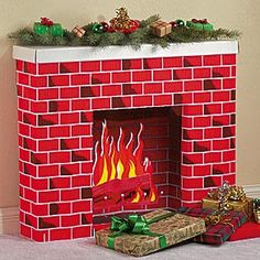 Tacky Christmas Hall of Fame Firebox I happen to live in a house that is sans fireplace. When we were building the house, it was this . Tacky Christmas, Easy Christmas Crafts, Christmas Past, Christmas Door, Vintage Christmas Cards, Simple Christmas, Christmas Concert, Office Christmas, Diy Christmas Fireplace