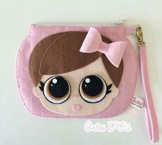 Diy Bags Purses, Fabric Purses, Diy Purse, Lol Doll Cake, Felt Kids, Felt Pouch, Felt Applique, Kits For Kids, Lol Dolls