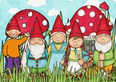 Jules kabouters Girl Gnome, Bujo Doodles, Princess Drawings, Rock Art, Elves, Activities For Kids, Art For Kids, Baby Dolls, Kindergarten